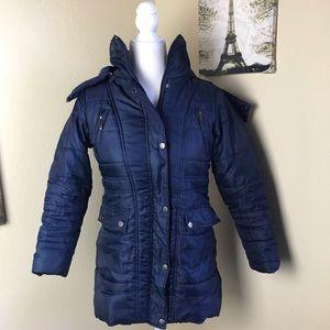 New York Yoki blue puffer jacket. Girls 12-14